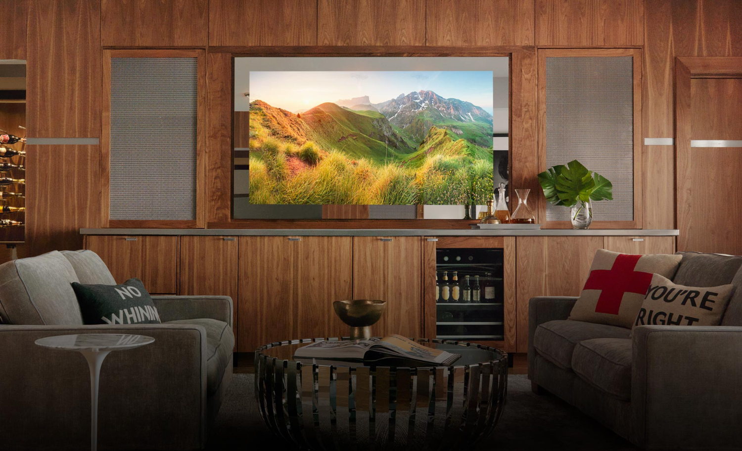 How Hidden TVs Help Designers Create More Beautiful Homes